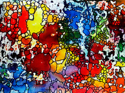 Steffens abstract painting - Shiny Pebbles