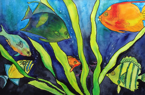 Steffens watercolor painting - Fish Series #5