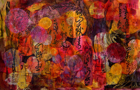 Steffens abstract painting - Asian Lights