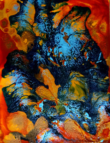 Steffens abstract painting - The Cosmic Dance