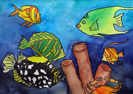 Steffens watercolor painting - Fish Series #9