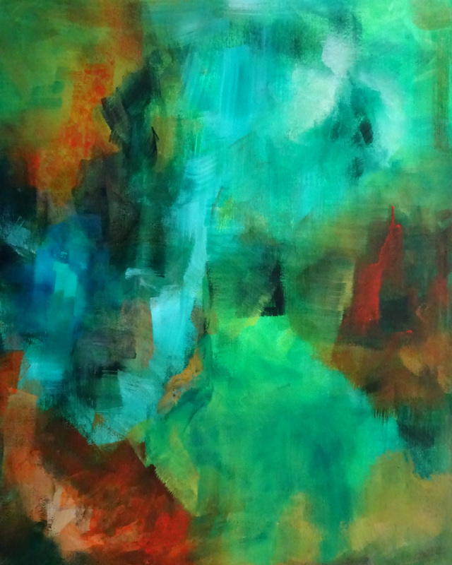 Peggy Steffens abstract painting - Insight
