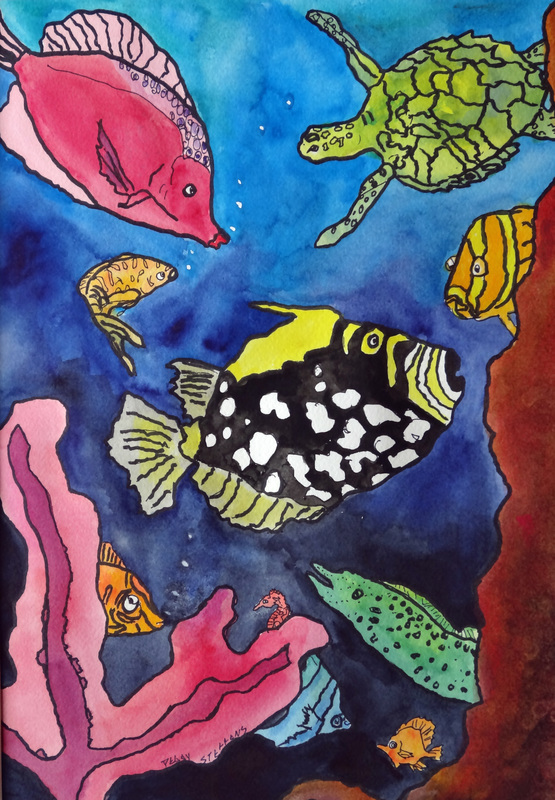 Steffens watercolor painting - Fish Series #2