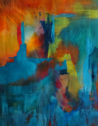 Steffens abstract painting - New Beginnings