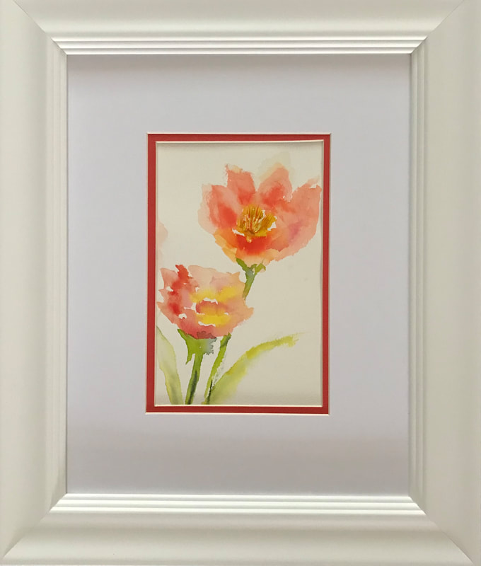 Steffens watercolor painting - Bloom of Life -wet into wet flower